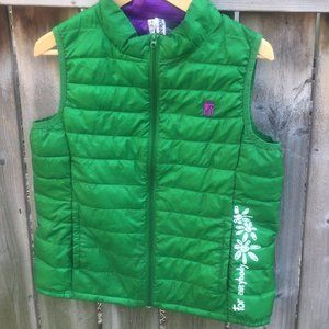 Desigual green & purple lightweight vest - S/M
